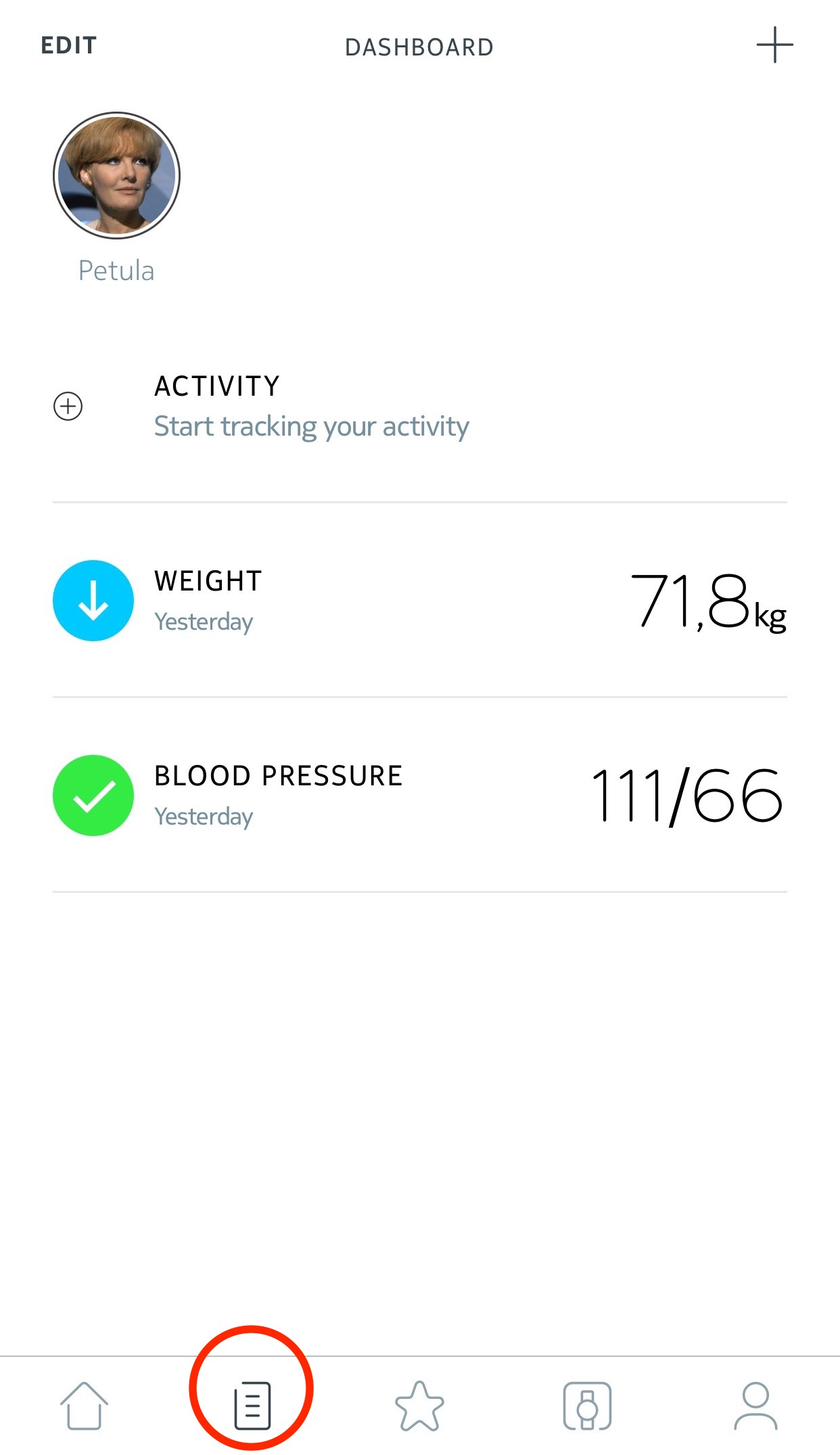 health mate ios app viewing my measurements withings support