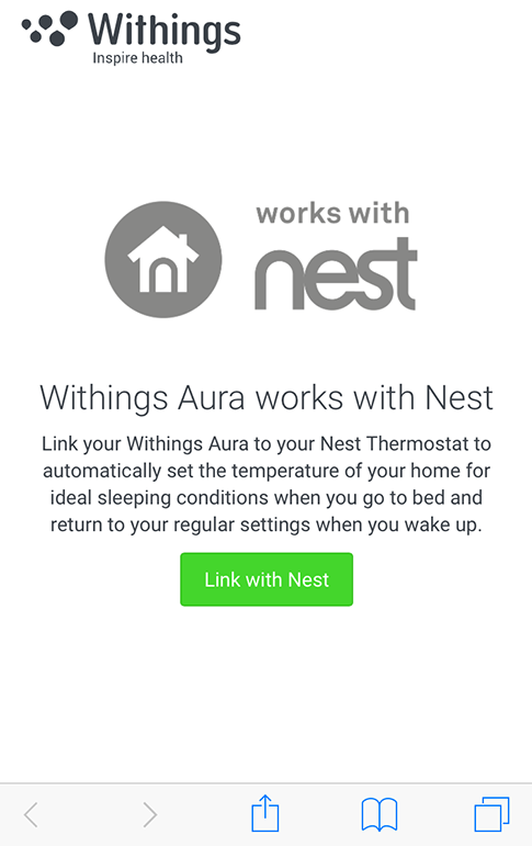 Partner Apps - Linking my Withings Aura™ with my Nest Thermostat